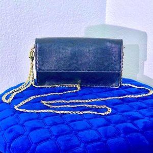 Snob Essentials black crossbody wristlet purse